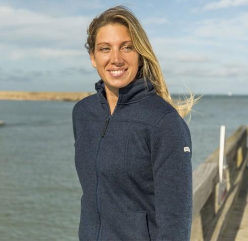 Veste polaire femme marine