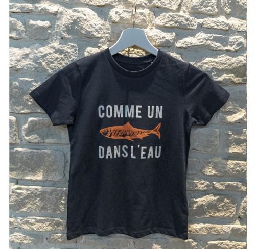 """T-shirt enfant """"comme un poisson dans l'eau"""""""