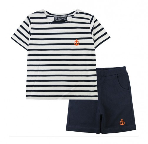 Ensemble T-shirt rayé + Short