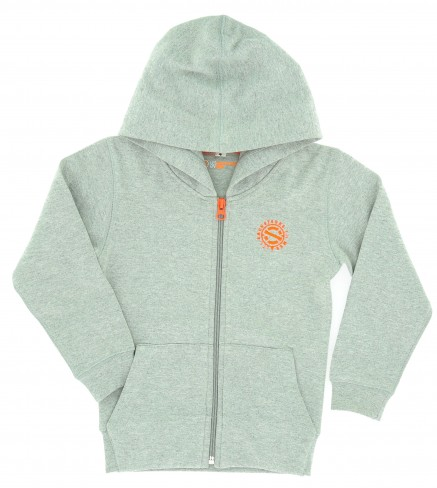 Sweat zippé gris chiné