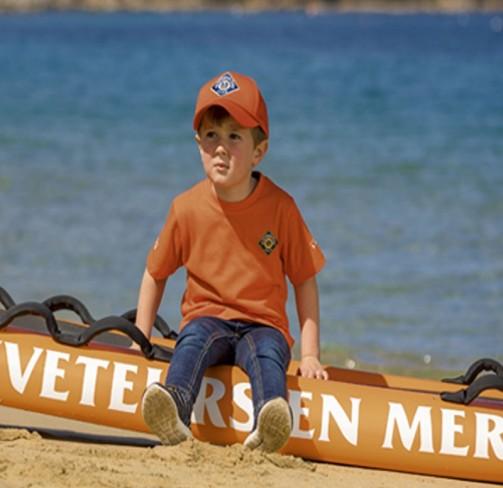 Casquette enfant orange