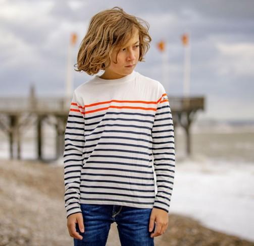 T-shirt rayé manches longues enfant