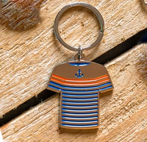 Porte-clés marinière