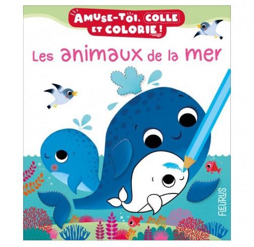 Colle et colorie Les animaux de la mer