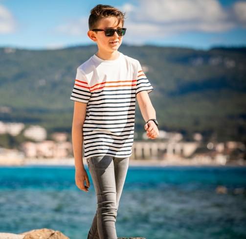 T-shirt rayé manches courtes enfant