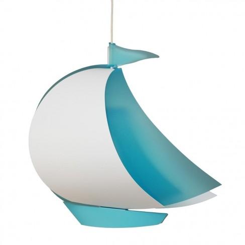 Suspension bateau bleu
