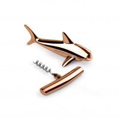 Décapsuleur tire bouchon requin cuivre
