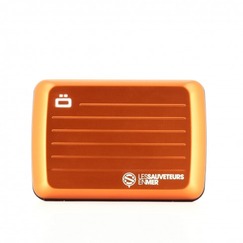 Porte carte etanche orange