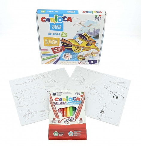Bateau à colorier et à construire