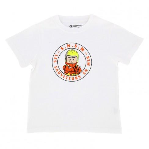 T-shirt blanc sauveteur enfant